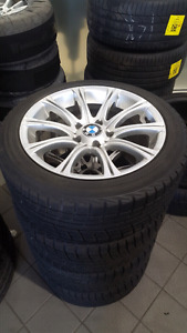 BMW 3 Series Winter tires with M rep rims 225/45/17