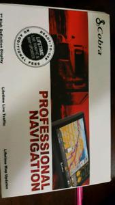 "7"" cobra 8000 pro hd navigation for semi truck or car"