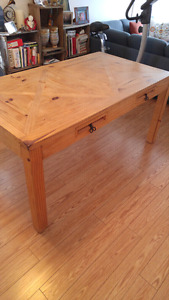 Table de bois massif rustique chic / dining table rustic chic