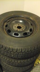 5x100 subaru outback rims and tires WINTER TIRES London Ontario image 2