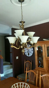 Solid Brass 9 Arm Chandelier