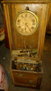 old full mechanical punch clock