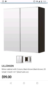 IKEA LILLANGEN mirror cabinet for sale!