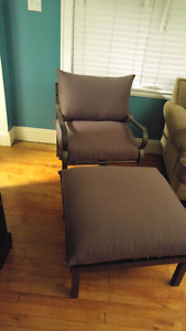 Plush Patio Chair and Ottoman 100