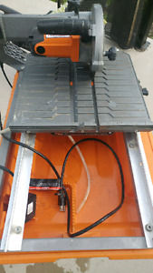 RIDGID WET SAW AND STAND