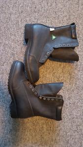 Black Work Boots Men's
