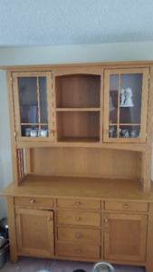 Solid Oak Buffet with matching Spice Rack