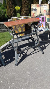 Foldable workbench and saw table