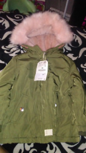 Zara baby girls winter coat BNWT