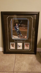 Trevor Linden Signed Framed Print with Hockey Cards