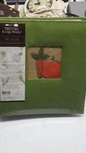 Deluxe Recipe Binder With Recipe Box & Blank Recipe Cards