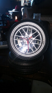 Tire clock with alarm