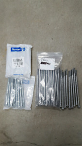"""3/8"""" Bolts, galvanized finish for deck railing or fence"""