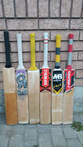 LARGEST STOCK of USED crickets bats / kits / gear / equipment
