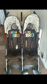 Cosatto Big bro little bro double buggy