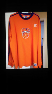 Mens NBA new york Knicks sweater shirt. Orange