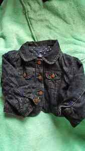 Gap girls jean jacket 18-24mo EUC