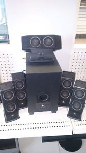 """sold"" Logitech Computer Speakers-5 pc w subwoofer-model X540"
