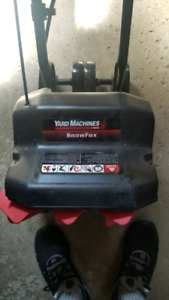 Yard Machines Snow fox blower electric up to 12inches of snow