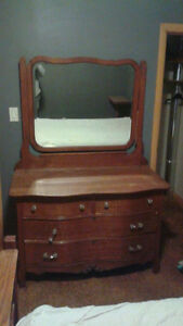 Vintage Bed and Dresser with mirror $380 OBO