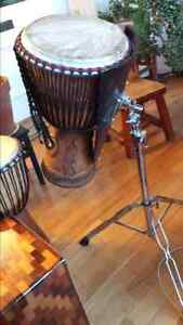 DJEMBE DRUM , Heavy Duty Stand and Carry Bag Cambridge Kitchener Area image 7