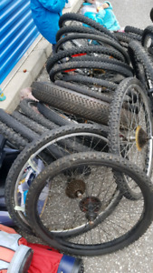 Big lot of reusable bike rims/tires