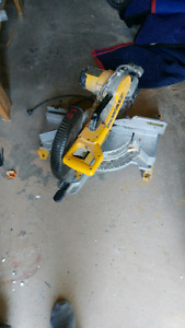 Selling dewalt double bevel sliding mitre saw