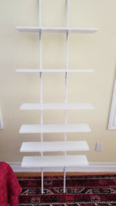 Wall mount brackets, shelf brackets and shelves 24 x 6 inches
