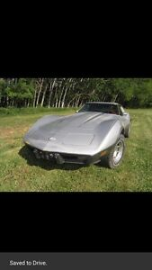 1978 silver 25 years of corvette mostly original