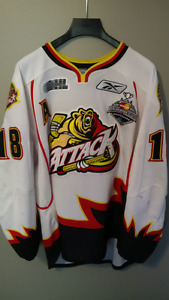 Owen Sound Attack - Game Worn Jersey - Joey Hishon
