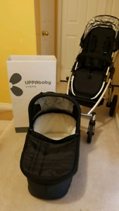 2014 uppababy vists stroller and bassinet
