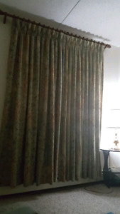 curtains and wood rod