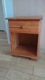 Pine bedside cabinet table