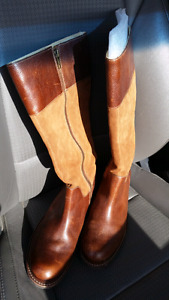Lightly Worn L.L.Bean Leather & Suede Boots