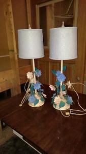 Vintage tole lamps