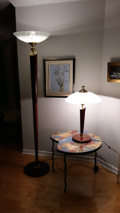 Lampe sur pied et lampe de table