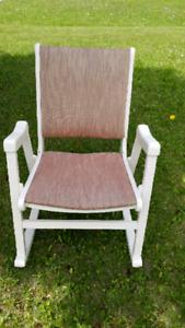 Chaise bercante en bois Vintage