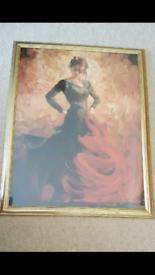 Framed Print of Spanish Flamenco Dancer