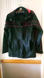 2 women's coats a raincoat and a jacket