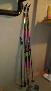 Cross country ski set, ladies/youth