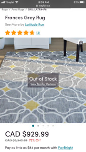 Wool area rug. 8.6ft by 11.6ft