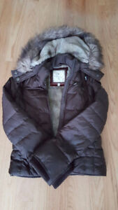 Abercrombie and Fitch Hooded Brown Winter Jacket