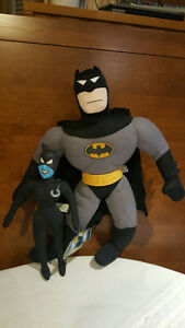 BATMAN ANIMATED SERIES PLUSHIES AND HAPPY MEAL TOYS