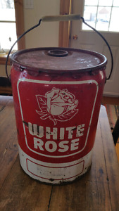 5 gallons white rose antique