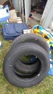 2 used all season tires 205/70/15