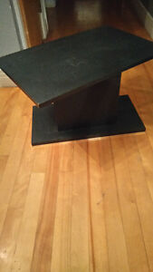 tv table on swivel base