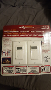 2 pack of programmable digital light switches