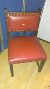 Arts & Craft LEATHER STUDDED CHAIR Arm Chair