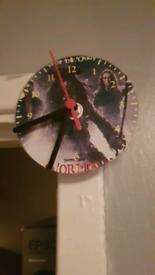 Dvd wall clock movies