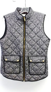 Catherine Malandrino Women's Size M Vest Houndstooth Black and W